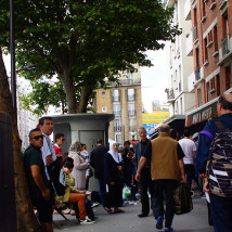 Paryż, uliczno - chodnikowy handel