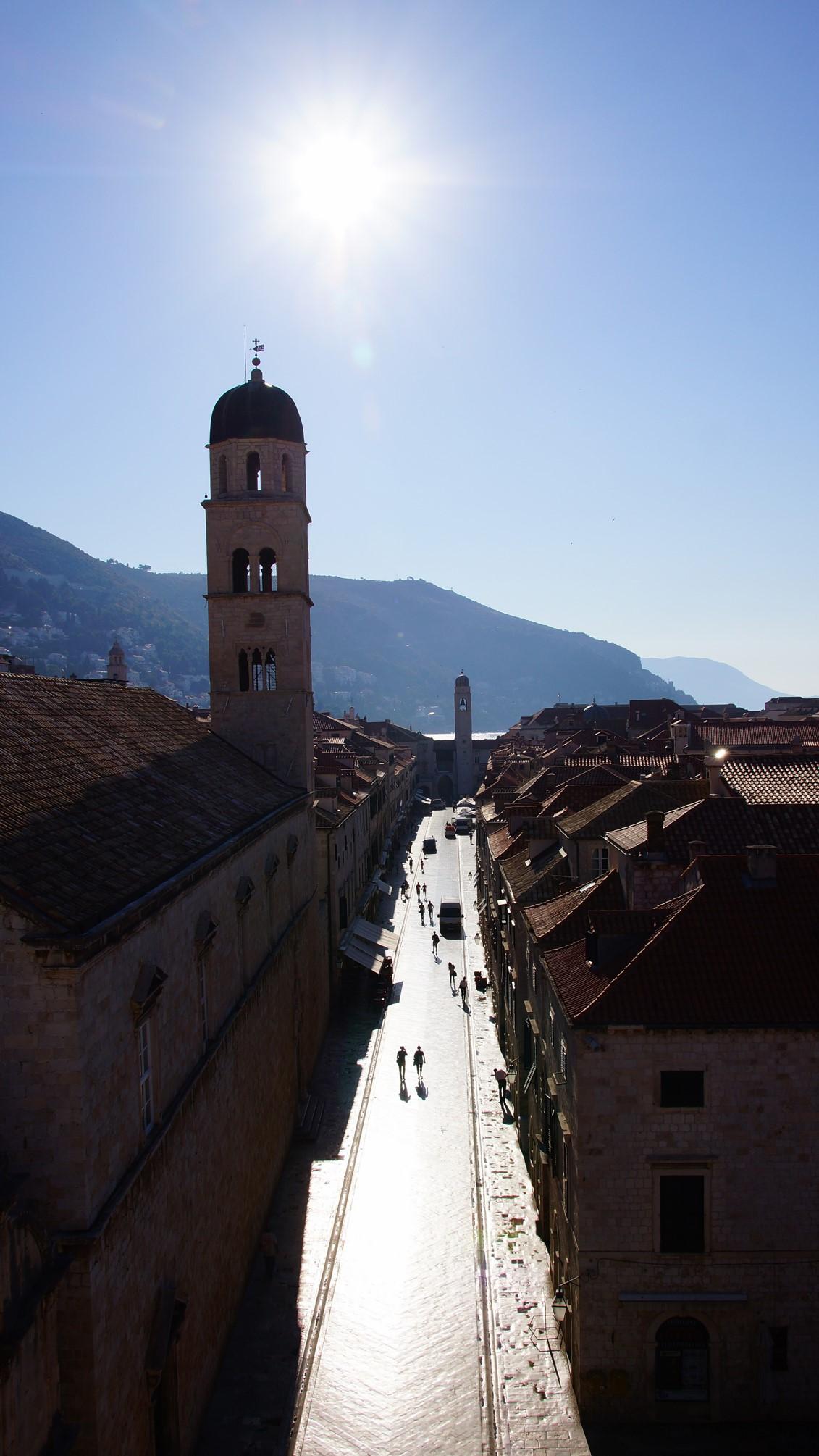 Stradun z murów, Duborvnik, Chorwacja