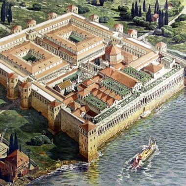 Pałac Dioklecjana - rekonstrukcja. Źródło - Wikipedia