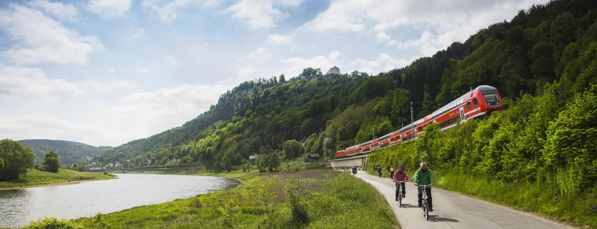 Königstein, Saksonia, trasa rowerowa