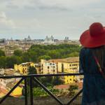 Janiculum, widok na Zatybrze i Rzym