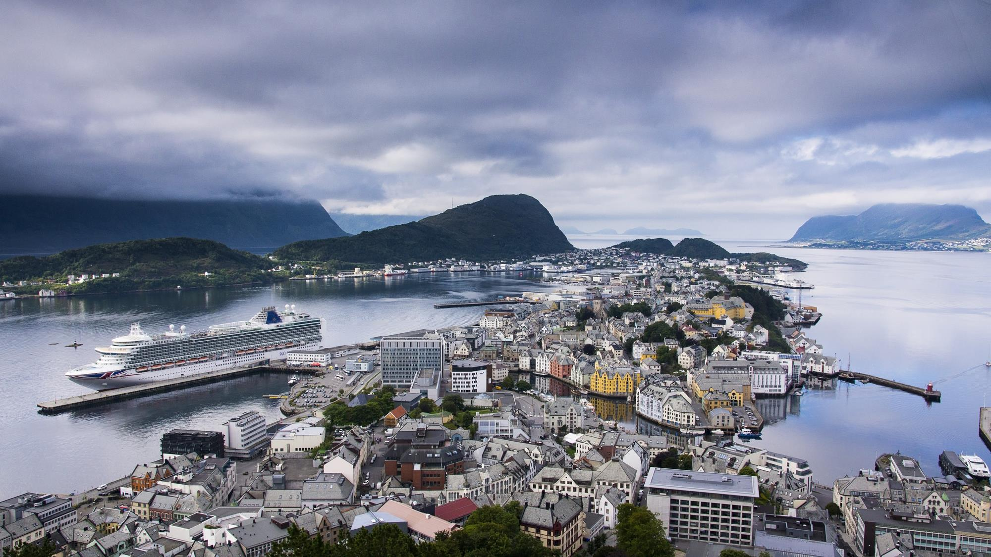 Alesund, Norway from Aksla