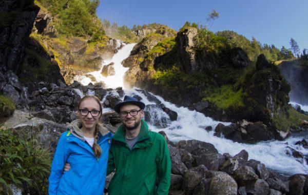 Wodospad Latefossen