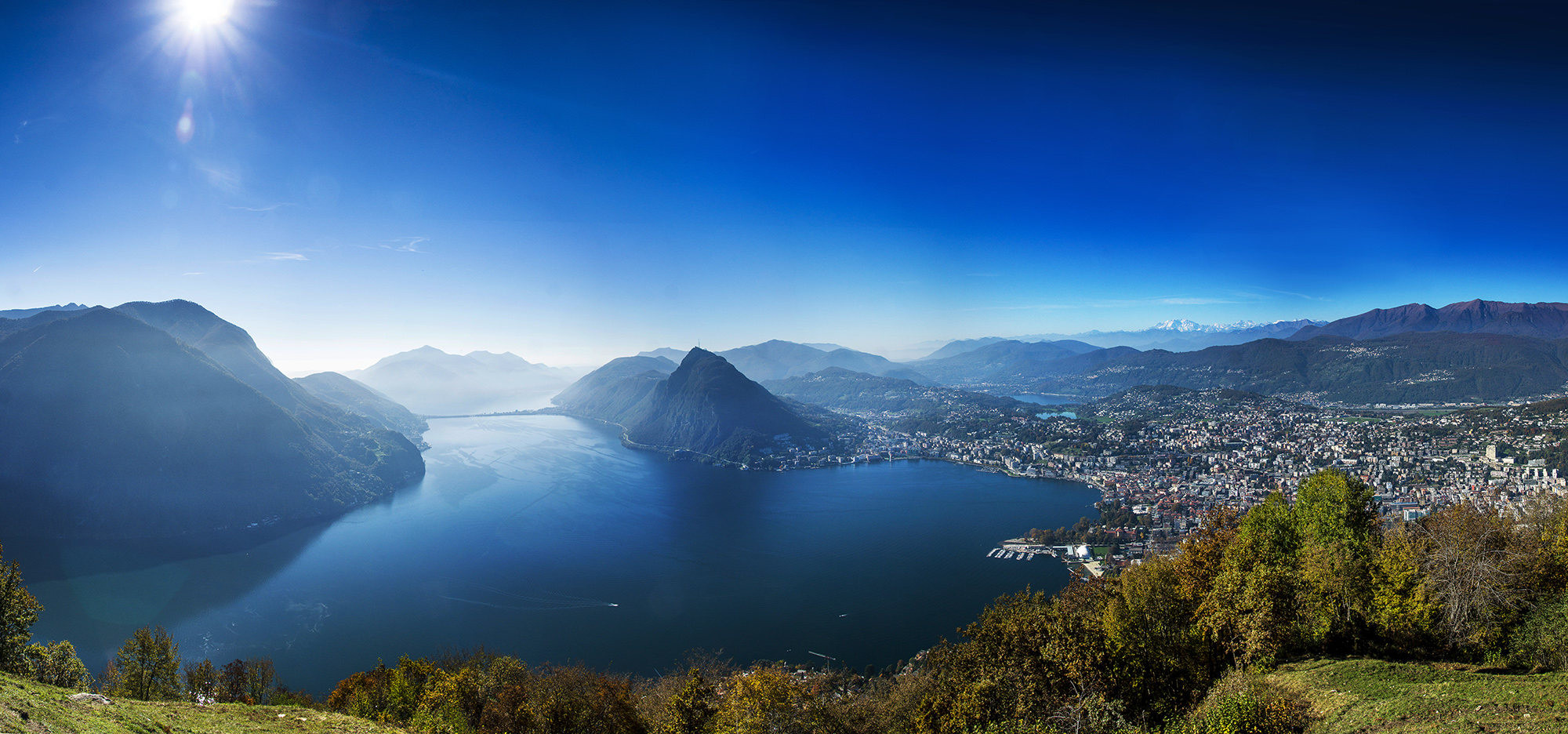 Lugano from Monte Bre