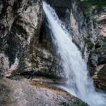 Cascada di Fanes - Via ferrata w Dolomitach
