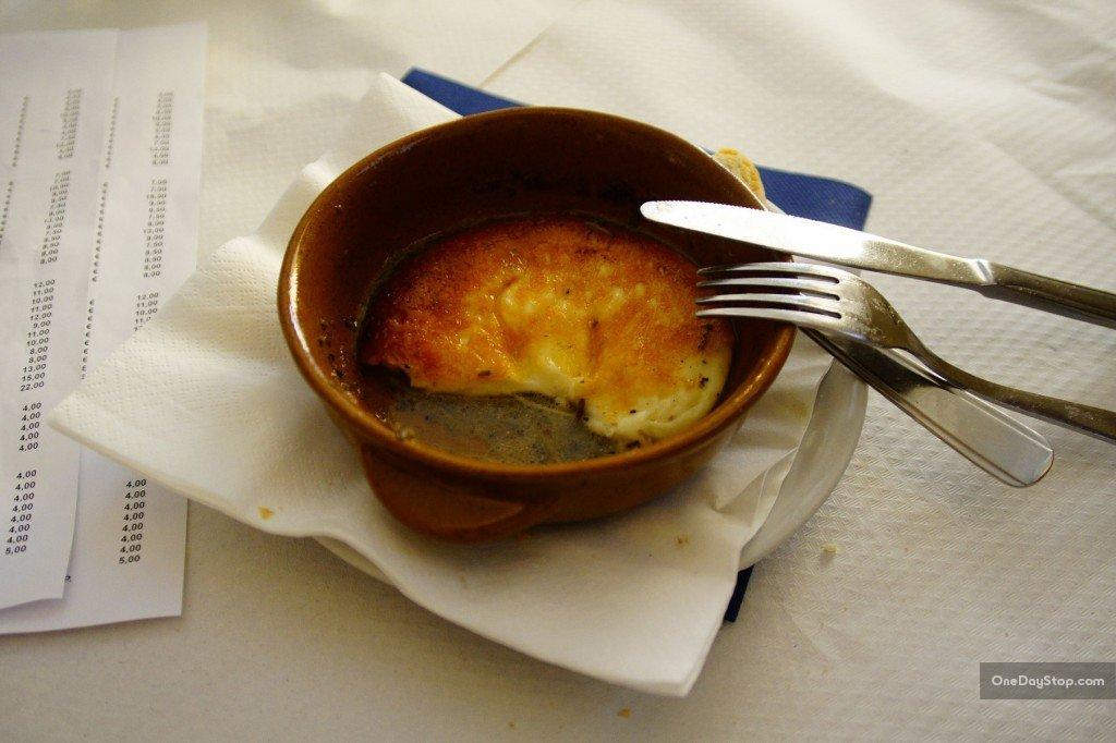 Trufle zapiekane z kozim serem w Taverna Castelluccio