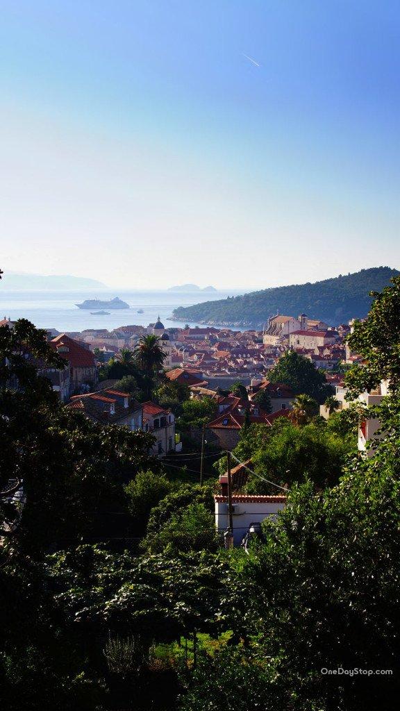 Dubrovnik - widok z zachodniej części miasta