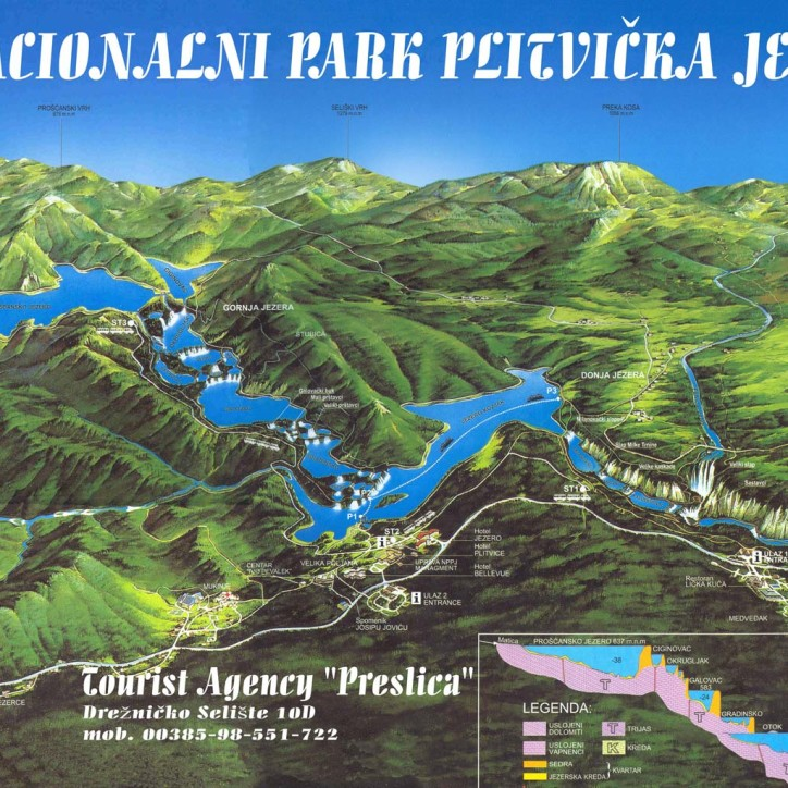 map plitvickie jeziera