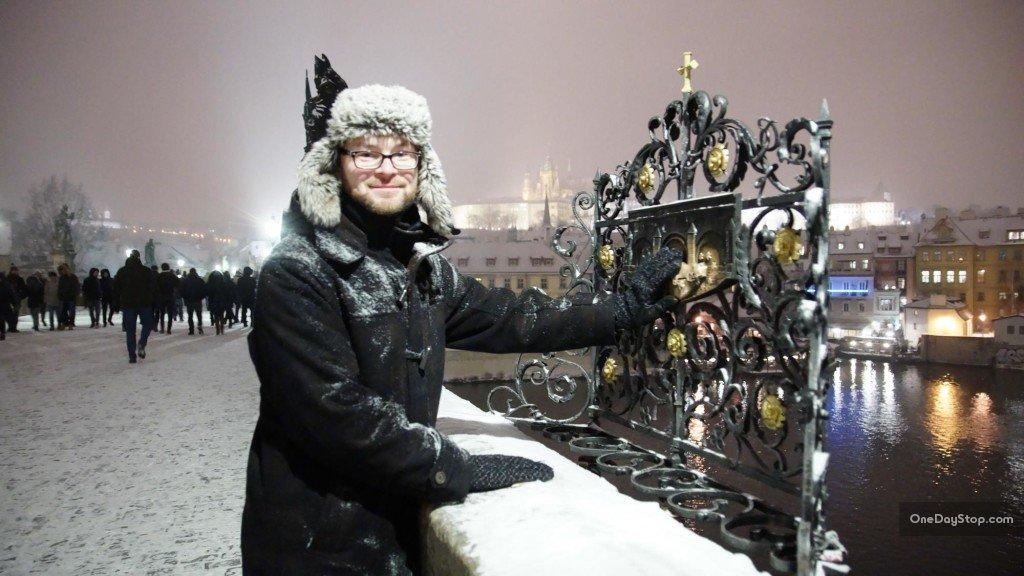 Most Karola - św. Nepomucen i życzenia
