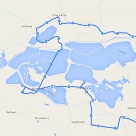 Mapa - Stawy milickie