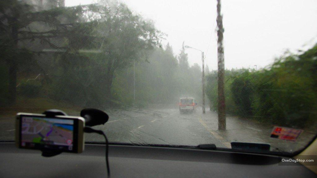 Rijeka in rain