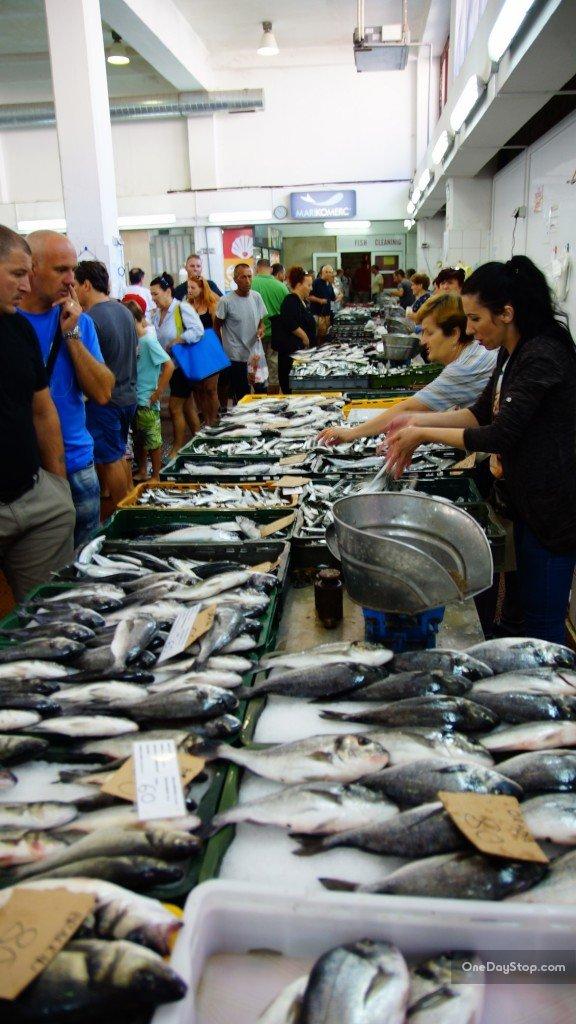 Fish market, Zadar