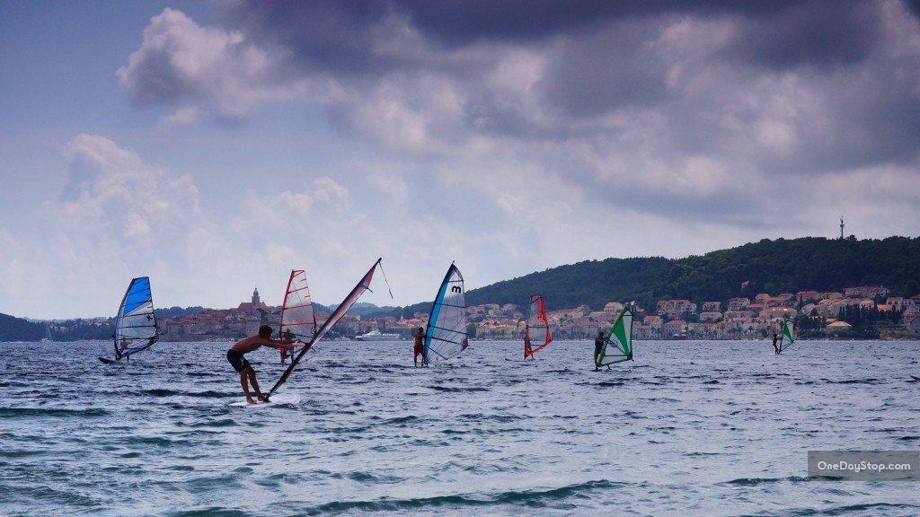 Windsurfing, Korcula, Croatia