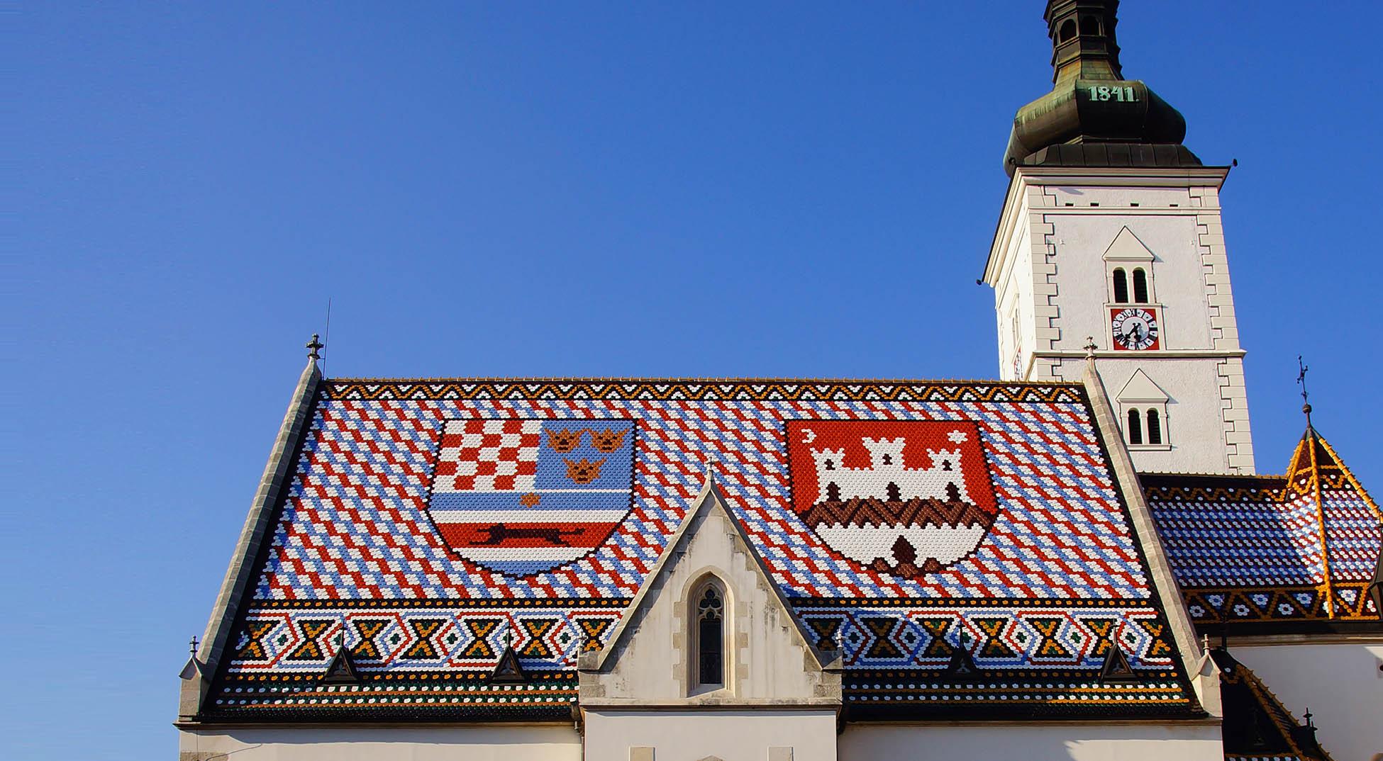 Zagrzeb, Kościół św. Marka, Chorwacja