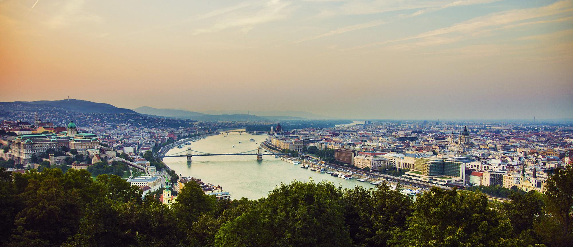 Panorama of Budapest, Hungary,