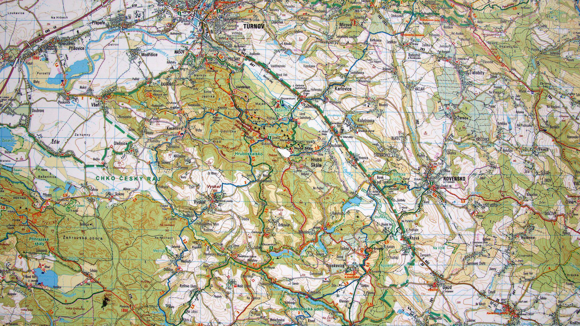Czeski Raj - cesky raj - map