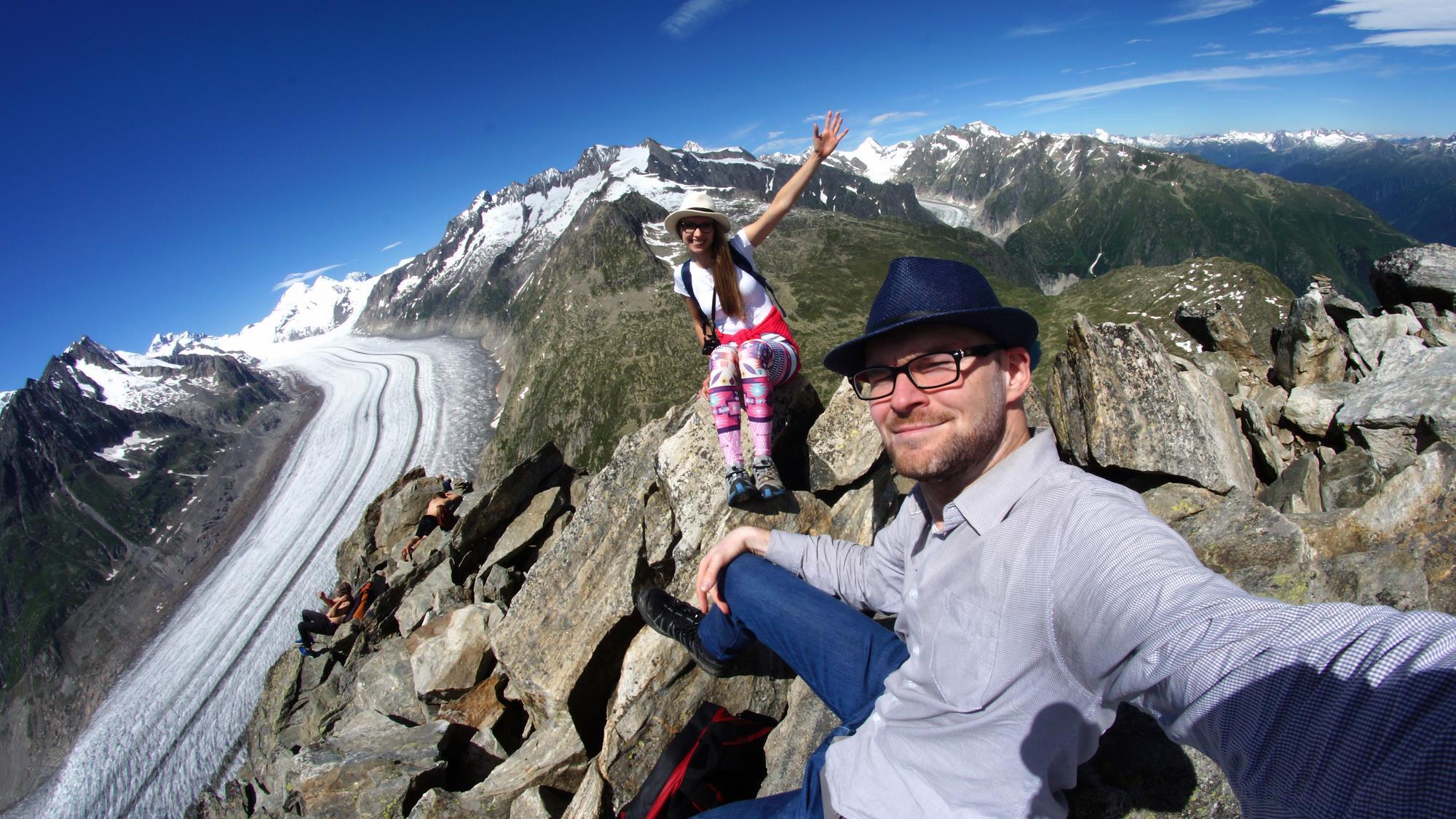 Eggishorn lodowiec, Szwajcaria