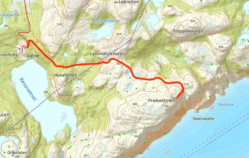 preikestolen mapa szlaku