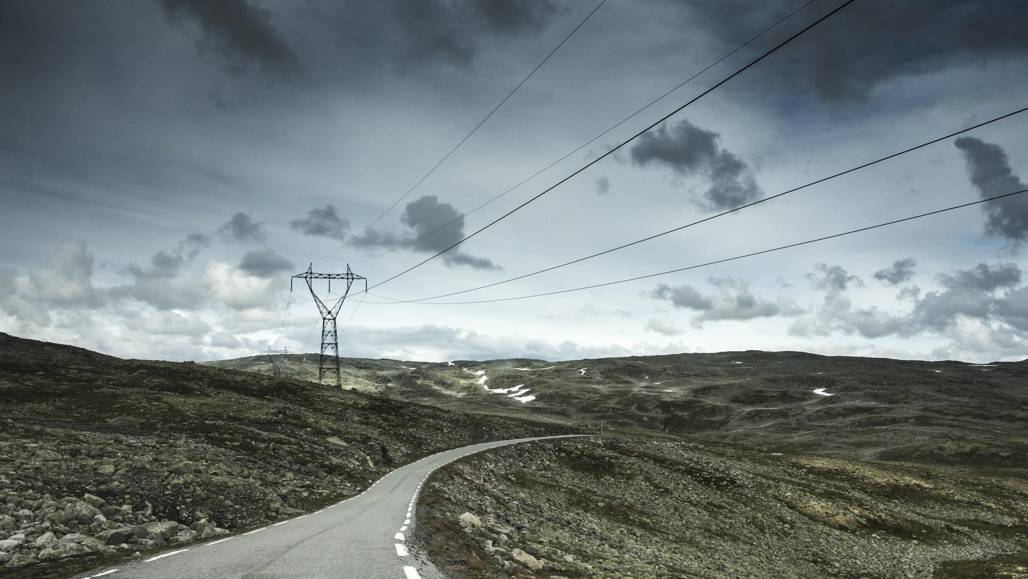 Aurlandsvegen - Droga Śnieżna Norwegia