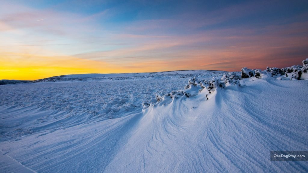 Śnieżka, Karkonosze, Czechy, zima
