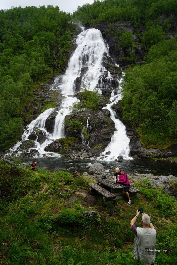 Wodospad Flesåna