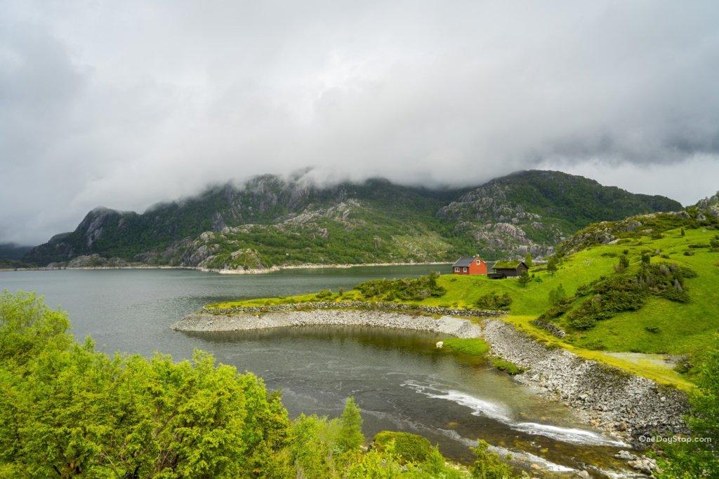 Fjellhaugbatn - jezior w kształcie serca