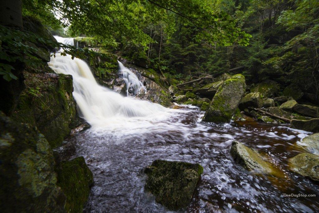 Polední vodopád, Góry Izerskie
