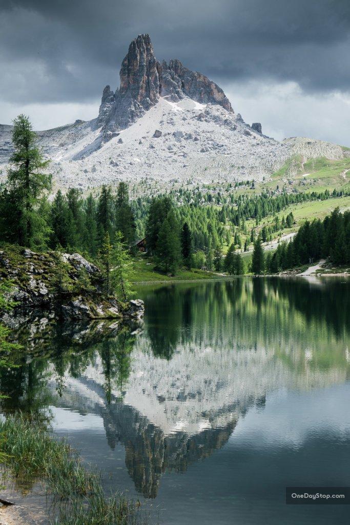 Beco di Mezodi i Lago di Federa, Dolomity