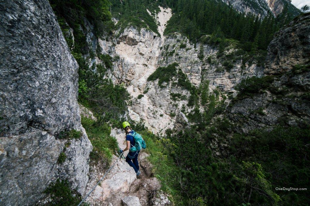 Cascada di Fanes - Via ferrata, Dolomites
