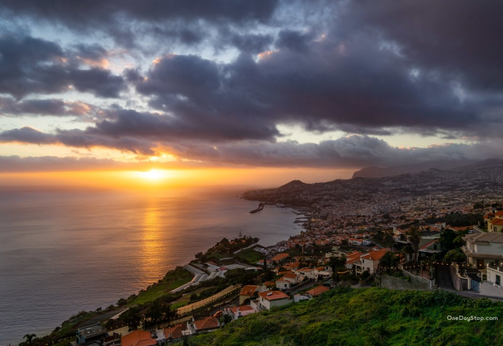Funchal at sunset