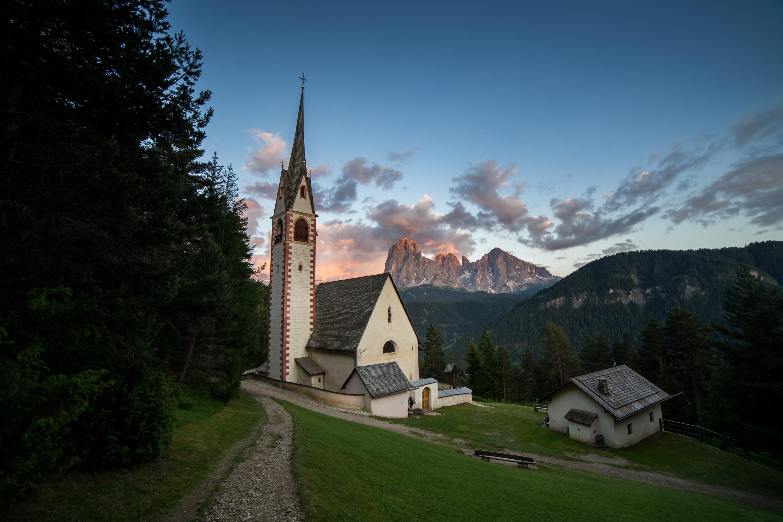 Dolomity, Kościółek w okolicy Ortiseri