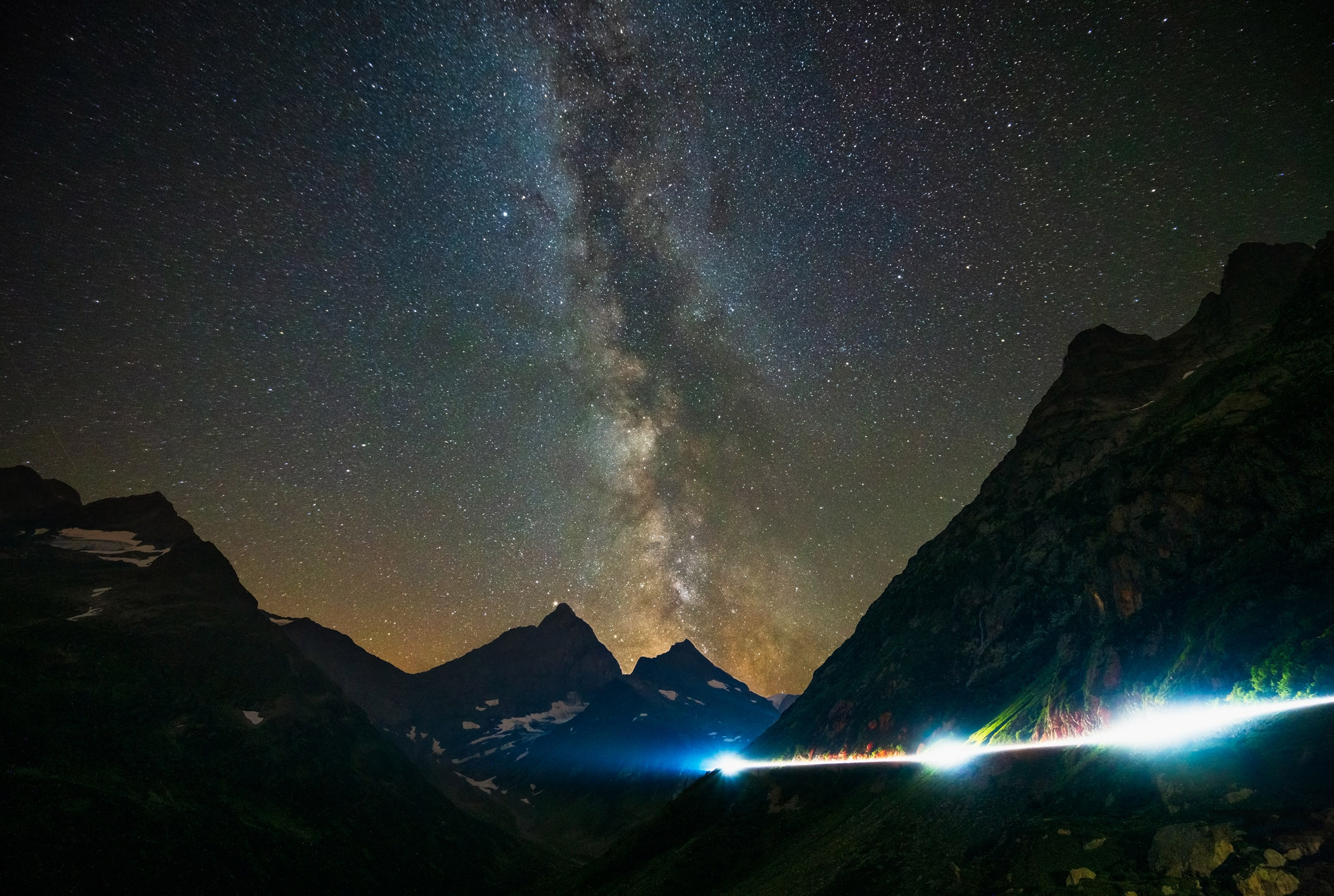 Astrofotografia krajobrazowa - Sustenpass, Szwajcaria