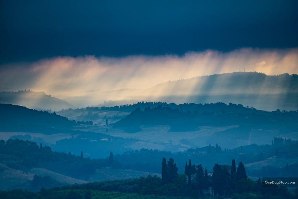 Zachód w Toskanii