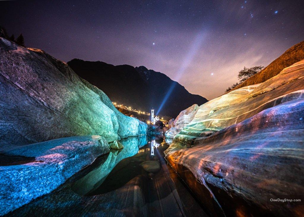 Fotografia nocna - Ticino, Szwajcaria - obiektyw do Sony