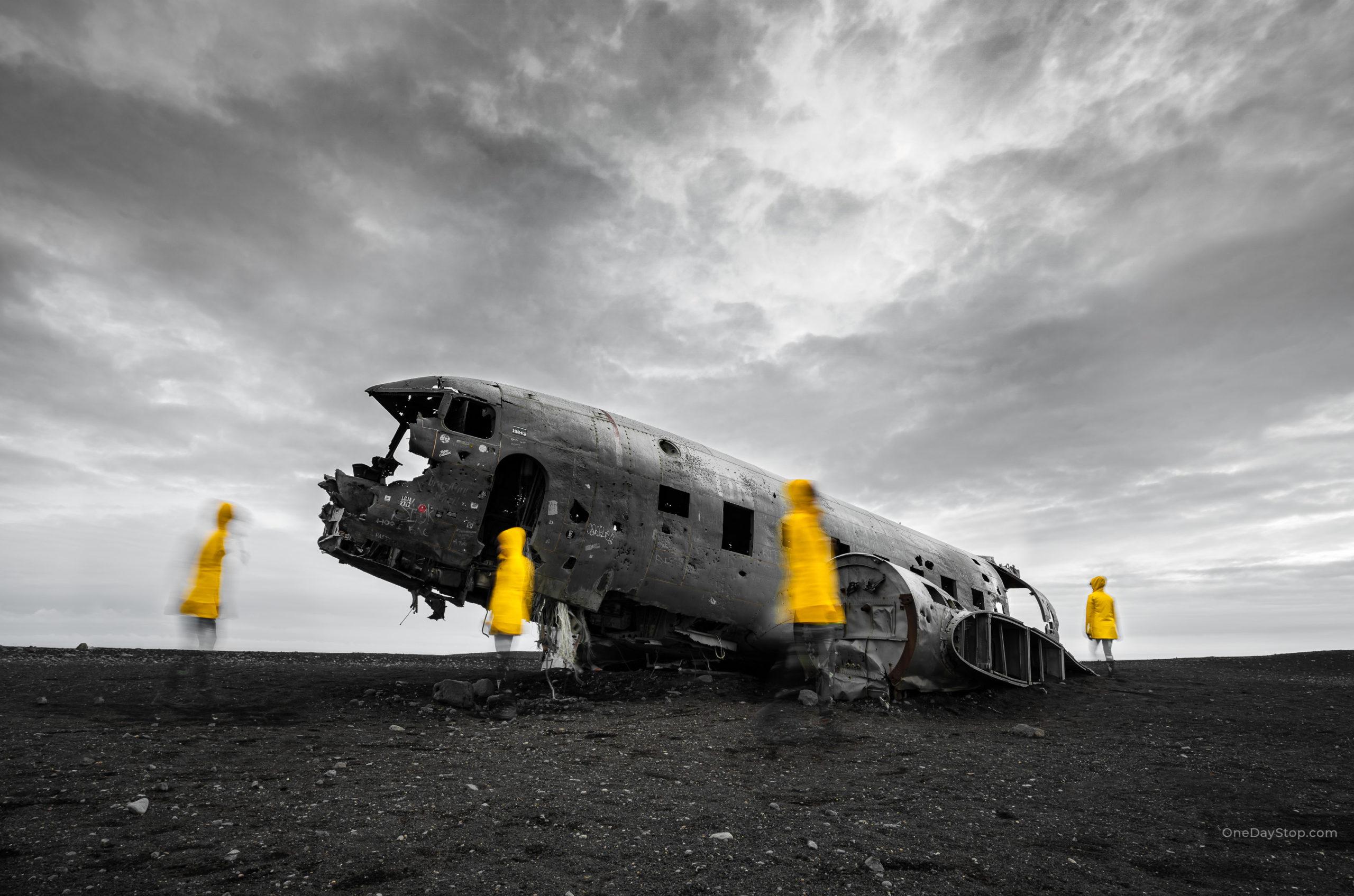 Yellow Ghos - Islandia - Wrak samolotu