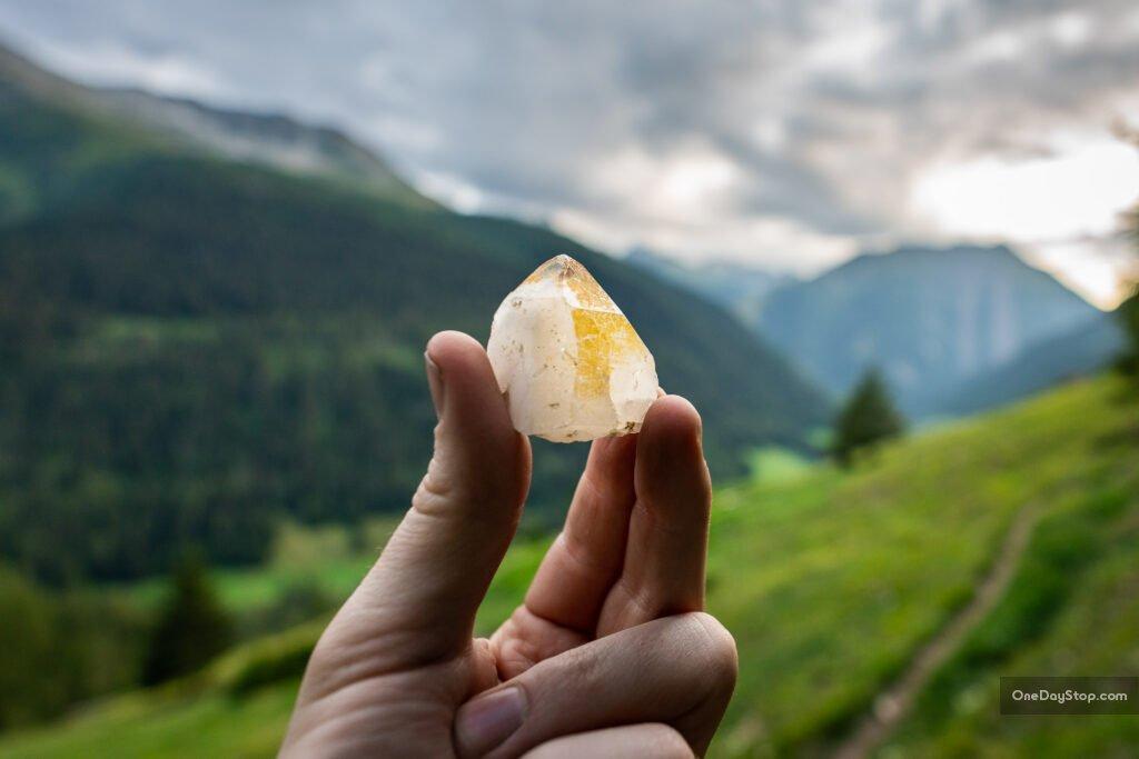 Kryształ górski z Binntal, minerały, Szwajcaria