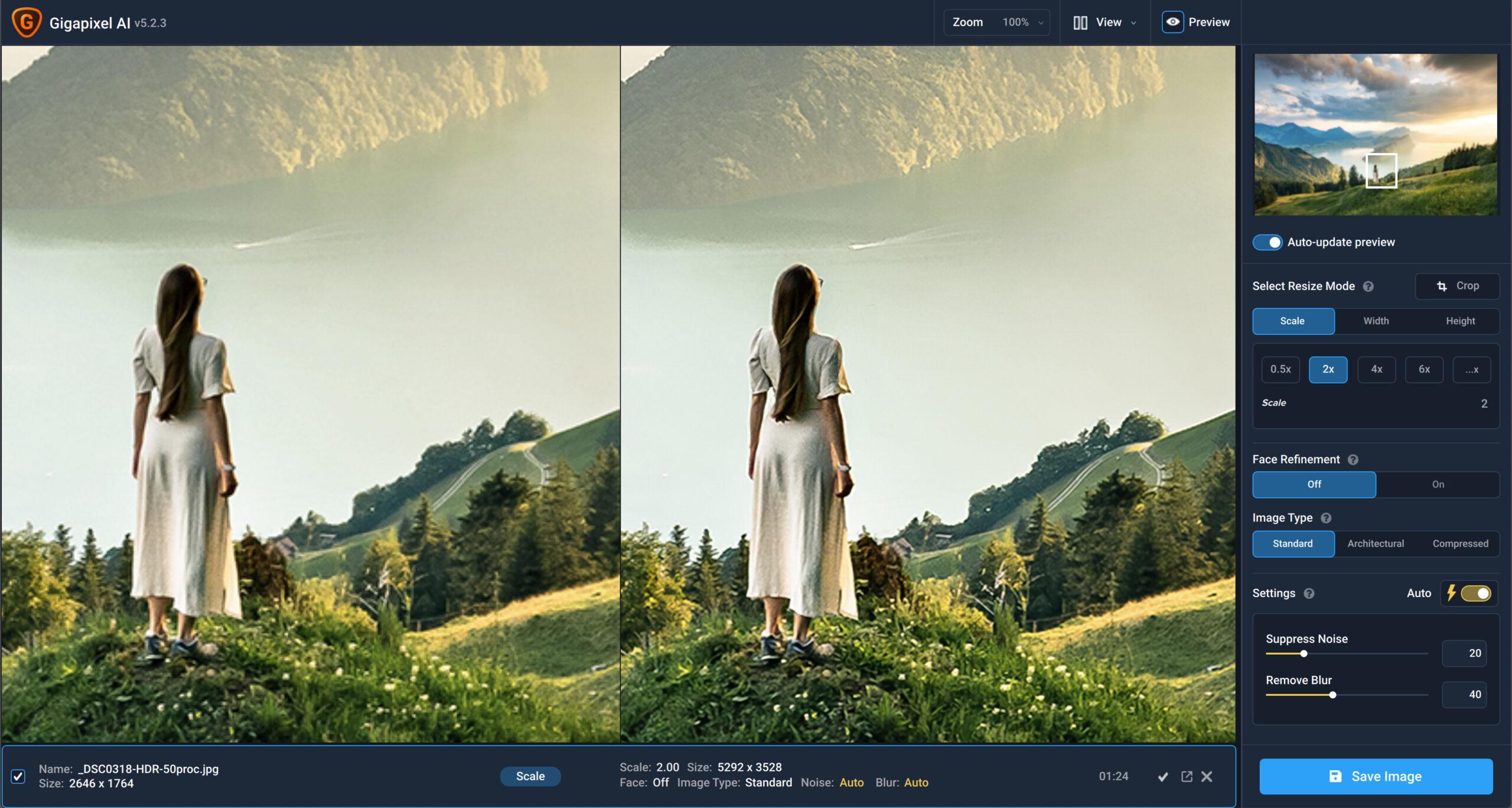 topaz labs gigapixel opinia recenzja porównanie z photoshopem