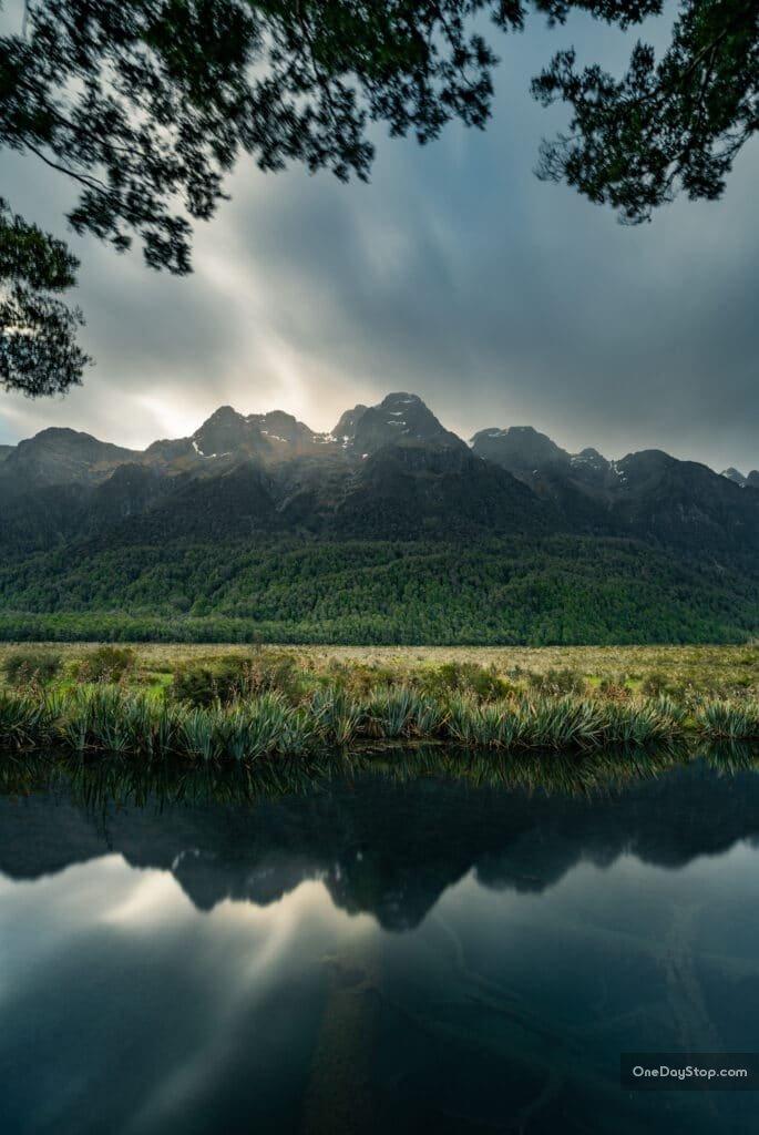 Mirror Lakes - Nowa Zelandia