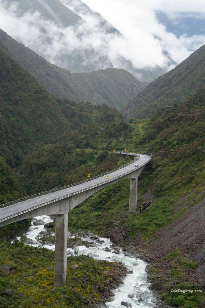 Arthur's Pass Nowa Zelandia - road trip